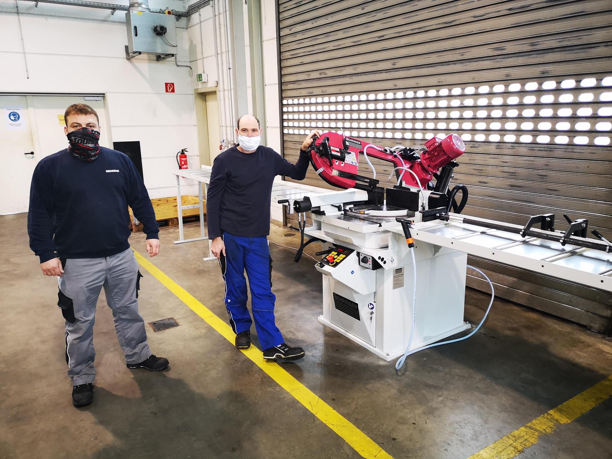 Die Rhein-Mosel-Werkstatt investiert in eine neue Schwenkrahmenbandsäge.